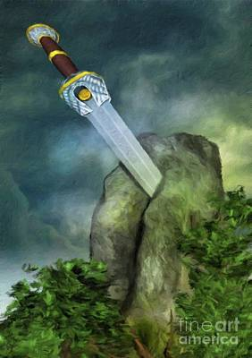 Excalibur By Sarah Kirk Poster by Sarah Kirk