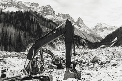Poster featuring the photograph Excavators by Fred Denner