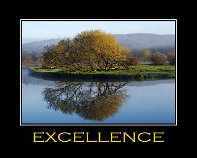 Excellence Inspirational Motivational Poster Art Poster