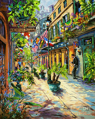 Exchange Alley Poster by Dianne Parks