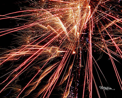 Poster featuring the photograph Exciting Fireworks #0734 by Barbara Tristan