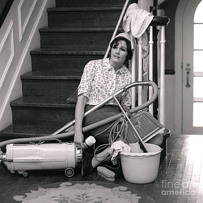 Exhausted Woman With Cleaning Poster by H. Armstrong Roberts/ClassicStock