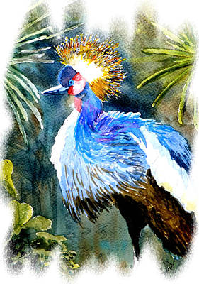 Poster featuring the painting Exotic Bird by Steven Ponsford