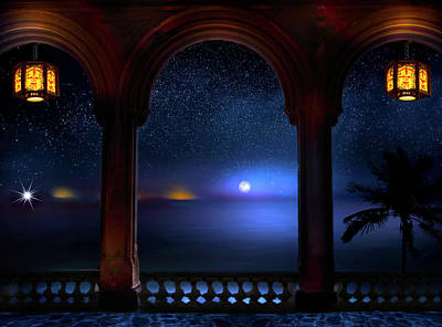 Poster featuring the photograph Exotic Night by Mark Andrew Thomas