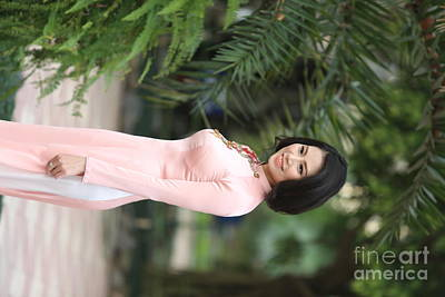 Exotic Vietnamese Woman Poster by Chuck Kuhn