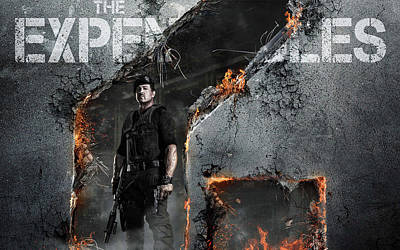 Expendables 2 Sylvester Stallone Poster