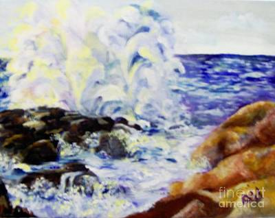 Poster featuring the painting Explode by Saundra Johnson