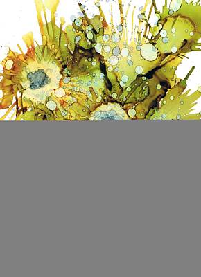 Exploding Sun Flowers Poster by Christine Crawford