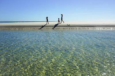Exploring A Tidal Beach Lagoon Poster