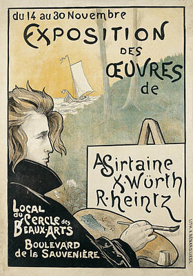Exposition Des Cuvres D'a Sirtaine Poster