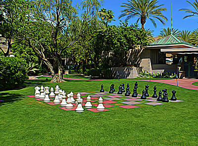 Poster featuring the photograph Expressionalism Chess At The Biltmore by Aimee L Maher Photography and Art Visit ALMGallerydotcom