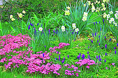 Poster featuring the photograph Expressionalism Garden Escape by Aimee L Maher Photography and Art Visit ALMGallerydotcom