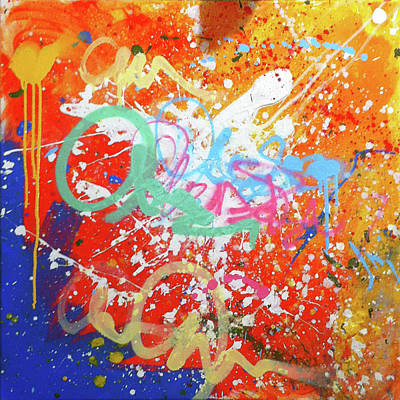 Expressionist Graffiti Painting Poster by Calum Medforth