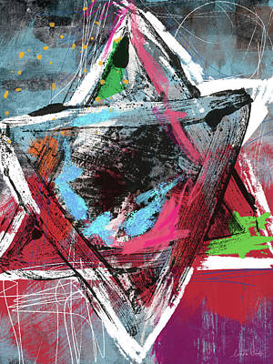 Expressionist Star Of David- Art By Linda Woods Poster