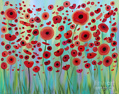 Expressive Poppies Poster