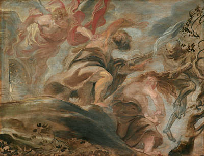 Expulsion From The Garden Of Eden Poster by Peter Paul Rubens