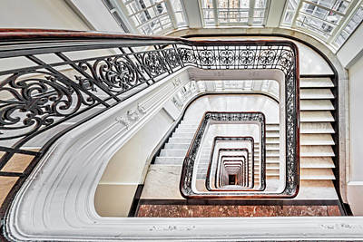 Poster featuring the photograph Exquisite Staircase Nyc  by Susan Candelario