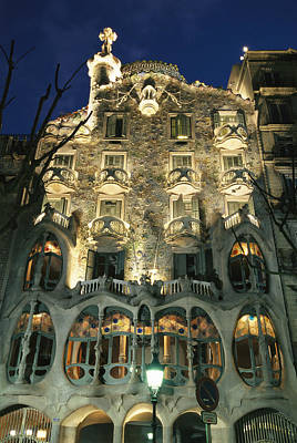 Exterior View Of An Antoni Gaudi Poster by Richard Nowitz