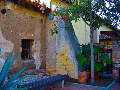 Exterior Wall Of Serra Chapel Mission San Juan Capistrano California Poster by Karon Melillo DeVega