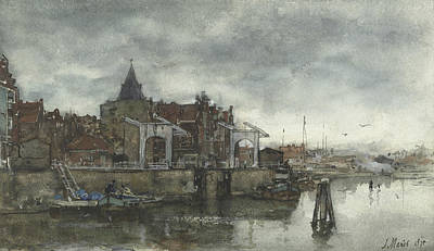 Exterior With The Schreierstoren In Amsterdam Poster by Jacob Maris