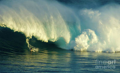 Extreme Surfing Hawaii 1 Poster by Bob Christopher