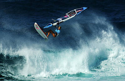 Extreme Wind Surfing Hawaii 2 Poster by Bob Christopher