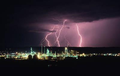 Exxon Lightning Poster
