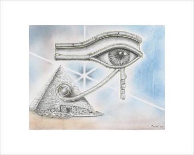 Eye Of Horus Poster by Daniel Kraus