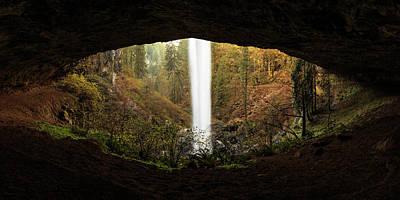 Eye Of The Waterfall Silver Falls Oregon Poster