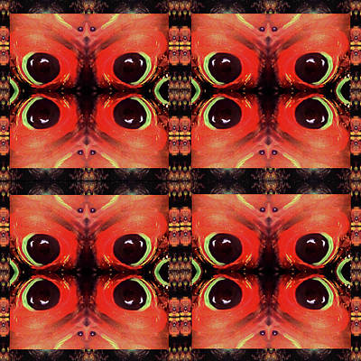 Poster featuring the painting Eyes 8 Four Square by Michelle Audas