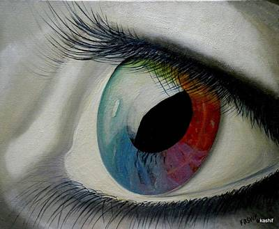 Eyes Against Spectrum Poster by Syed kashif Ahmad