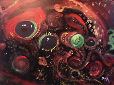 Poster featuring the painting Eyes Of The Universe # 5 by Michelle Audas