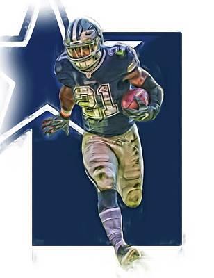 Ezekiel Elliott Dallas Cowboys Oil Art Series 1 Poster