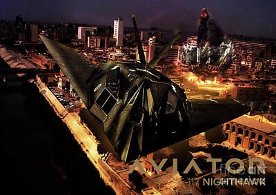 F-117 Nighthawk Fighter Jet Poster by Fernando Miranda