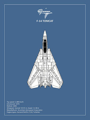 F-14 Tomcat Poster by Mark Rogan