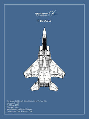 F-15 Eagle Poster by Mark Rogan