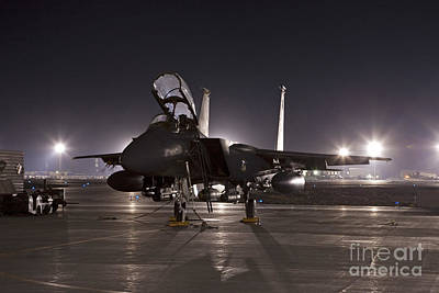 F-15e As A Rock Star Poster