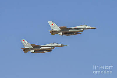 F-16 Fighting Falcon At Al Ain Air Show, Uae Poster by Ivan Batinic