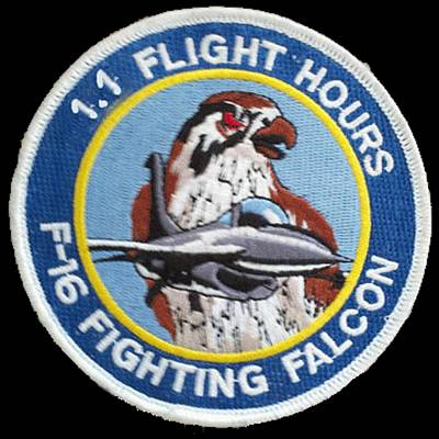 F-16 Ride Patch Poster