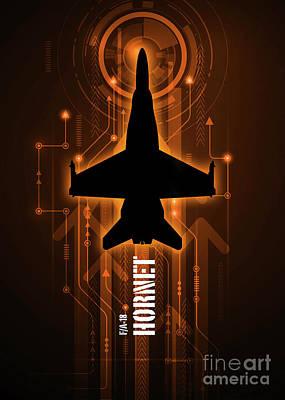 F-18 Hornet Digital Poster