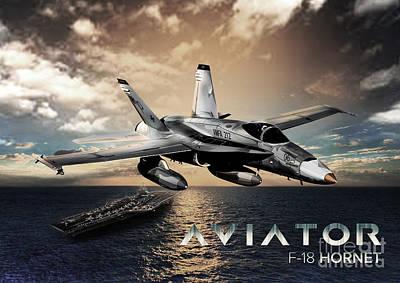 F-18 Hornet Fighter Jet Poster by Fernando Miranda