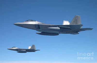 F-22 Formation Poster by Mark McIntosh