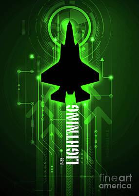 F-35 Lightning Digital Poster