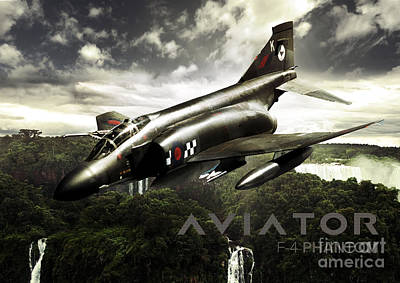 F-4 Phantom Fighter Jet Poster by Fernando Miranda