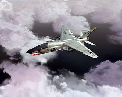 F-8e At Kilo Marshall Poster