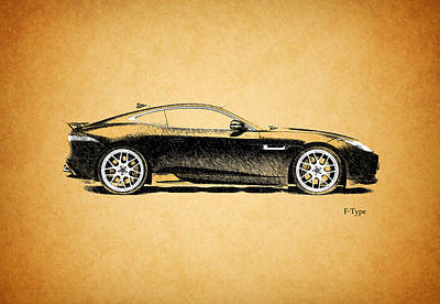 F-type Jaguar Poster by Mark Rogan