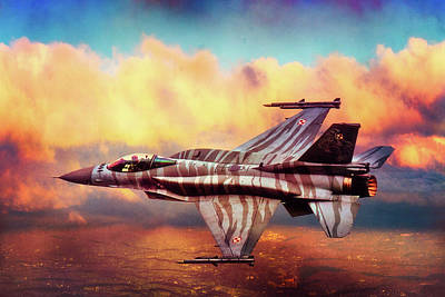 Poster featuring the photograph F16c Fighting Falcon by Chris Lord
