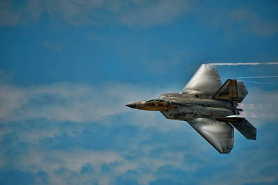 F22 Raptor Steals The Show Poster