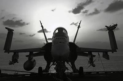 F A-18 Super Hornet On Carrier Poster