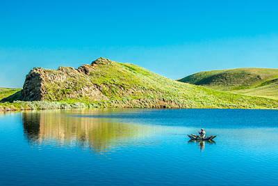 Faber Reservoir Fishing Poster by Todd Klassy
